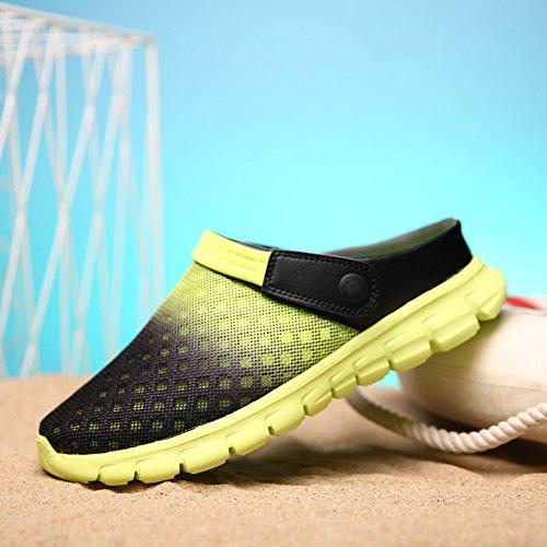 XIANV Schuhe Sandalen Neue Breathable Herren Hausschuhe Mesh beleuchtete Casual Outdoor Slip On Schuhe Beach Flip Flop Grün