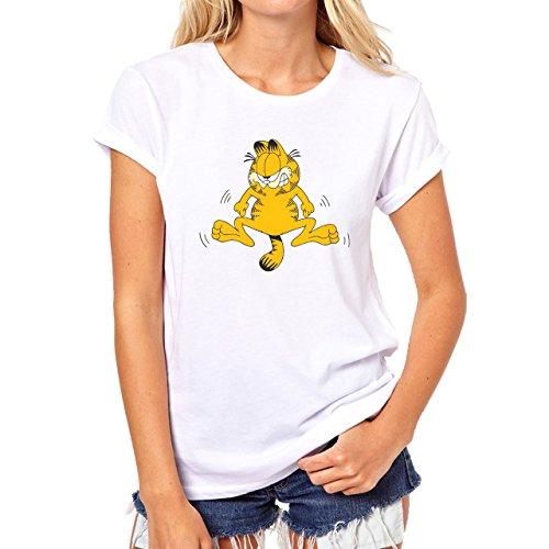 Garfield Minus Garfield Plus A Cat Damen T-Shirt Weiß