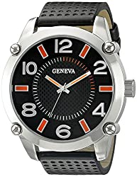 Geneva Mens FMDJM500D Analog Display Japanese Quartz Black Watch
