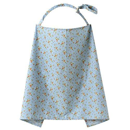 Fletion Atmungsaktive Baumwolle Baby Stillen Abdeckung, Stillschal, Stilltuch Stillen Schürze Schal mit Muster Blume
