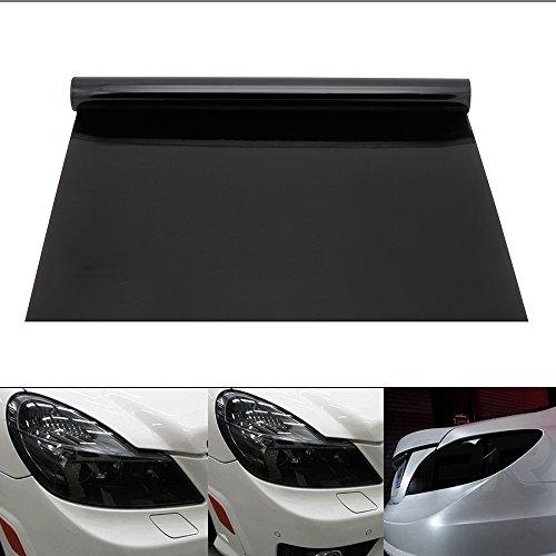 Auto Scheinwerfer Folie Tönungsfolie Aufkleber 200x30cm Scheinwerfer Rückleuchten Nebelscheinwerfer Aufkleber Samtschwarz