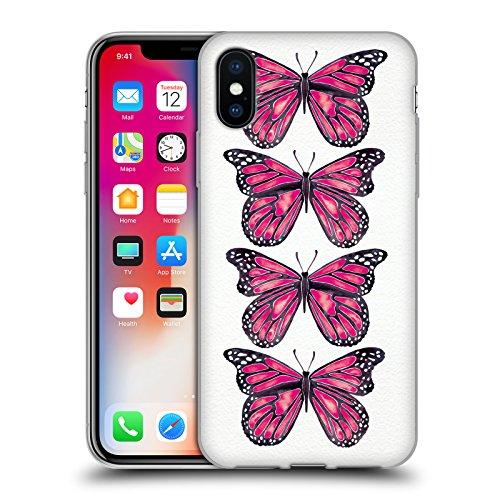 Ufficiale Cat Coquillette Nero oro Scorpione Insetti Cover Morbida In Gel Per Apple iPhone 6 Plus / 6s Plus Farfalle rosa