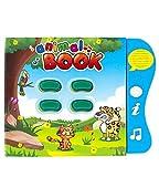 Boxiki Kids Englisch Tiergeräusche Lernbuch, Beschäftigungsbuch für Kleinkinder und frühe Kindesentwicklung. Elektronisches Tierbuch: Zum abspielen von Musik, lernen von Tiernamen, Geräuschen und mehr