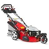 HECHT Benzin-Rasenmäher 5543 SXE 3-Rad Rasenmäher + Elektro-Start Funktion (4,4 kW (6,0 PS), Schnittbreite 51 cm, 60 Liter Fangkorbvolumen, 7-fache Schnitthöhenverstellung 25-75 mm, Radantrieb)