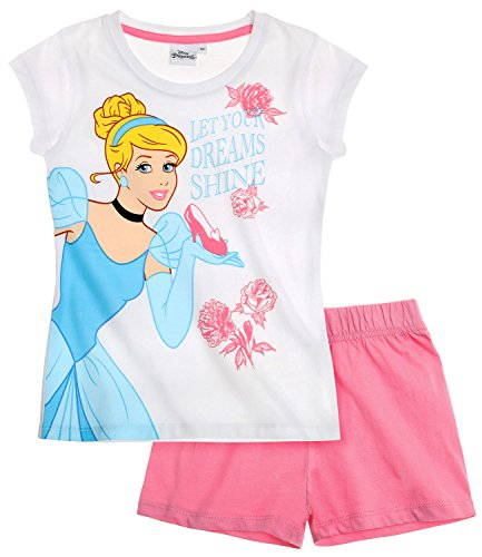 chen Shorty-Pyjama - weiß - 104 (Disney Princess Kinder)