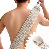 Esponja exfoliante espalda, Esponja exfoliante para la espalda, para el cuerpo y la ducha, con manopla para eliminar la piel muert, Esponja Espalda Scrubber