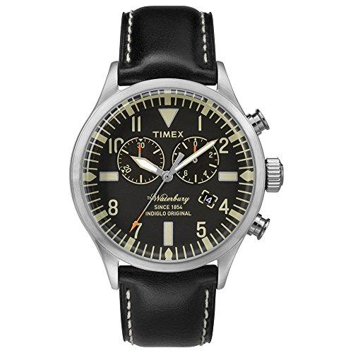 Timex - TW2P64900 - Montre Homme - Quartz - Chronographe - Bracelet Cuir Noir
