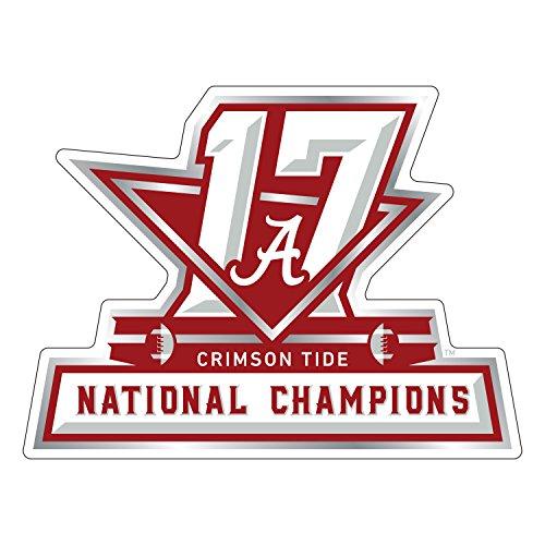 Alabama Crimson Tide Magnet, 2017 National Champions Car Magnet (3''6''12''), 12