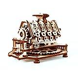 Wooden City V8 Engine 3D-Holzfunktionsbausätze, Holz, Natur, 14 x 10 x 10,7 cm