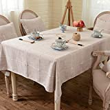 Kreativ Home Plaid Tisch Tischdecke Stoff Nordic Baumwolle und Leinen kleine frische moderne minimalistische Tuch Couchtisch Kissen rechteckige runde Tischdecke (Farbe: Kaffee, Größe: 130 * 180 cm) fü