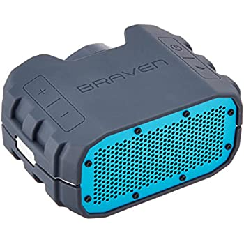 Braven BRV-1 Portable Ultra Rugged Wireless Speaker - Glacier - Grey/Blue + White Trim