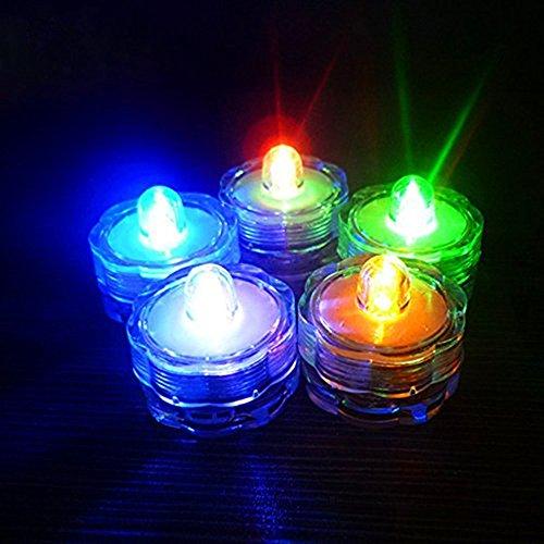 alxcio LED Kerzen flammenlose Teelichter Wasserdicht batteriebetrieben Elektrische Fake Kerze für die Dekoration Festivals Celebration Hochzeiten, 12Stück, 3x 2,6cm Multi - Plum Flower Shape
