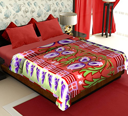 Story@Home Coral Collection Soft Printed Fleece Polyester Double Bed Blanket - Multicolour  available at amazon for Rs.299