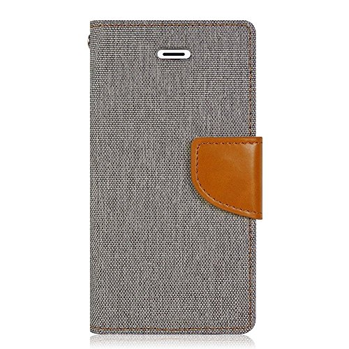 Samsung Galaxy Grand Quattro GT-I8552 Premium Wallet Flip Case Cover (Matte Grey) by Mobile Life