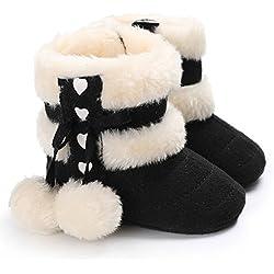 SamMoSon Scarpine neonata stivaletti morbidi stivaletti da neve scarponi da neonato (13)