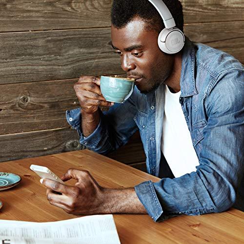 JBL T450BT Cuffie Sovraurali Bluetooth Cuffie On Ear Wireless con Microfono e Comandi su Padiglione JBL Pure Bass Sound, Leggere e Pieghevoli, da Viaggio, fino a 11 h di Autonomia, Nero - 5