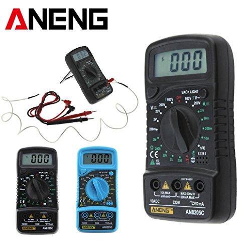 sunnymi Digital Thermometer Multimeter 3 1/2 digitaler LCD Bildschirm/Gleichstrom Wechselstrom Widerstand Diode Temperatur Tester/Hintergrund Licht Funktion (Dekor Digital)