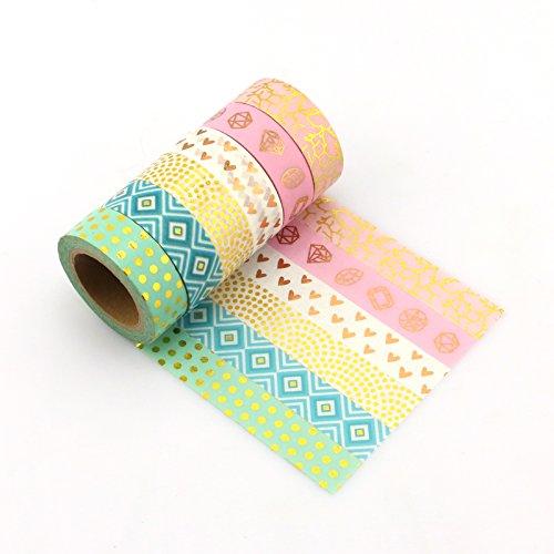 Yuyikes DIY Dekorative Washi Klebeband 6 Rolls Dekoband Masking Tape Klebeband (Dekor Halloween Ideen Cupcake)