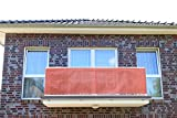 Smart Deko 800x90cm Terrakotta Balkonsichtschutz, Balkonverkleidung, Windschutz, Sichtschutz und UV-Schutz für Balkon, Gartenanlagen, Camping und Freizeit (800x90cm)
