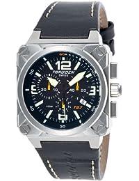 Torgoen T27104 - Reloj analógico de cuarzo para hombre, correa de cuero color negro