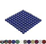 VIELE VARIANTEN: 100 Magnetkugeln 5mm für Whiteboard, Magnettafel, Kühlschrank (blau)
