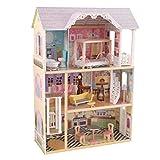 KidKraft 65869 Maison de poupées en bois Kaylee incluant accessoires et mobilier, 3 étages de jeu pour poupées 30 cm