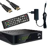 Edision Kabelreceiver Proton T265 LED DVB-C/T2 für digitales Kabelfernsehen inkl. Kabelabel HDMI Kabel
