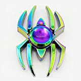 RCOMG ® Fidget Spinner Metall finger spinner not led fidget spinner rainbow batman bat fidget spinner not led fidget spinner metall fidget spinner original Fidget Hand Spinner Spider Man Spinne fidget spinner Finger Gyro Spielzeug-Hand Spinner, Fidget Spielzeug Spinner Toy Finger Hand,--Hochwertiges Beständiges Metall-- Stresslöser Stress reduzierer Angstzustand ADD ADHS Konzentration Faulenzen Zeitvertreib (zhizhu-rainbow) (bunt1)