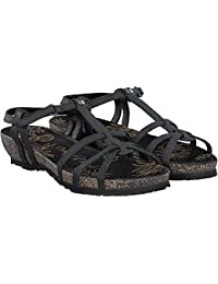 Sandalias de Mujer Panama Jack Dori Basics B1 Napa Grass Negro
