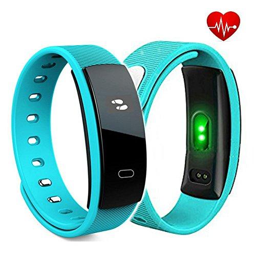 Fitness Tracker Pulsmesser, TKSTAR Smartwatch Sport Armband OLED Touchscreen Smart Armband Uhr mit Blutdruckmessgerät Schlaf-Monitor Kalorien Tracker Call Reminder für Android iOS (Blau)