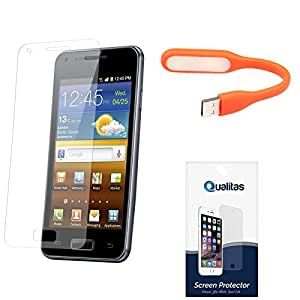 Qualitas Ultra Clear Pack of 3 Anti-Glare Anti-Scratch Anti-Fingerprint Screen Protector for Sony Xperia E4 + Flexible USB LED Bright Light