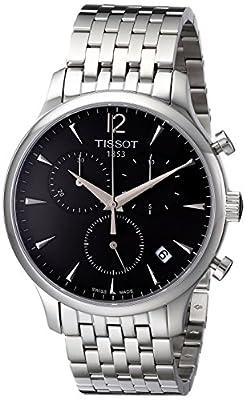Tissot T0636171106700 - Reloj cronógrafo de cuarzo para hombre, correa de acero inoxidable color plateado (cronómetro)