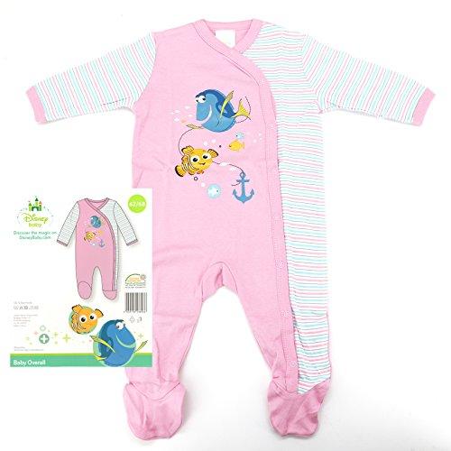 Geprüft Schlafanzug (heimtexland Disney Baby Strampler in rosa Gr. 62-68 Langarm mit Füßen Findet Nemo Dorie Mädchen 100% Baumwolle hautfreundlich Ökotex geprüft Typ512)