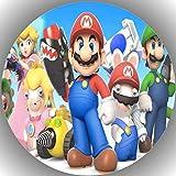 Fondant Tortenaufleger Tortenbild Geburtstag Super Mario N6