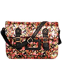 Stunning Design Multicolour Silk Handbag Cum Sling Bag For Women & Girls By Bagris GE01001607