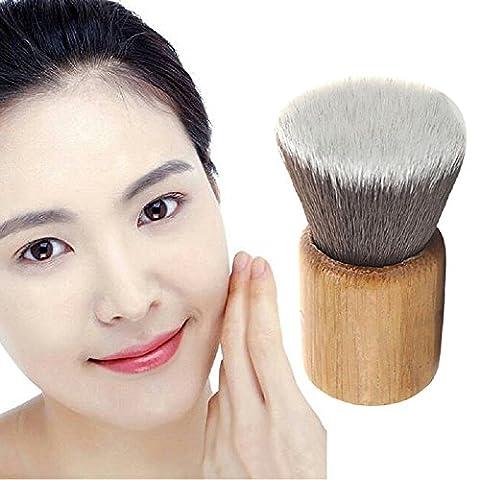 Hrph TOP Quality Bamboo Handle Single Brush Mini Flat Head Foundation Brush Professional Cosmetic Facial Make up Brush