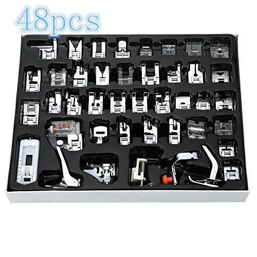 Wokee Praktisches Nähset,48PCS inländische Nähmaschine Fuß Presser Füße Set Nähzubehör für jede Angelegenheit (D)