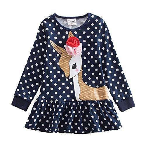 NEWMEN RIGHT Mädchen Kleider Tutu Spitze Tier Eule Kinder Kleider Streifen Kinderkleidung Kinder Kleider Mädchen Kleidung H5926 Mix Gr. 24 Monate, Multi -
