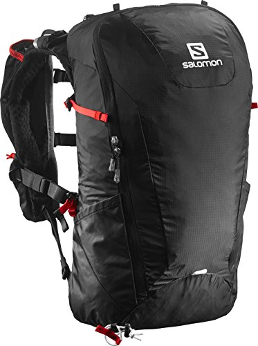 Salomon Peak 20 Mochila, Unisex, Negro (Black/Bright Red), Talla Única