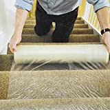 PE-Schutzfolie für Teppichboden, selbstklebend, strapazierfähig, durchstich- und wasserfest,60cm x100m Rolle
