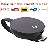 LONSUN Wireless WiFi Display Dongle Adaptador de receptor de TV 1080P Full HD Soporte Google Chromecast para Miracast Airplay DLNA TV Stick para Android / Mac / IOS / Windows