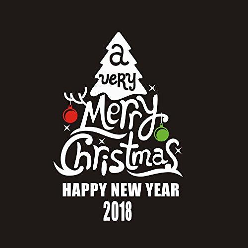 OIKAY Wandaufkleber Neues Jahr 2018 Frohe Weihnachten Wandaufkleber Home Schaufenster Decals Decor hausgarten küche zubehör dekorative aufkleber wandbilder