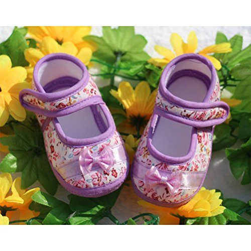 Zhhlinyuan Toddler Baby Girls Comfortable AntiSlip Soft bottom Princess Shoes Purple