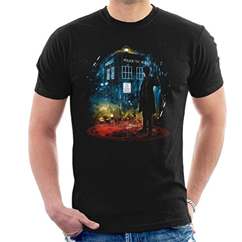 Doctor Who 11th Time Storm Rainbow Men's T-Shirt
