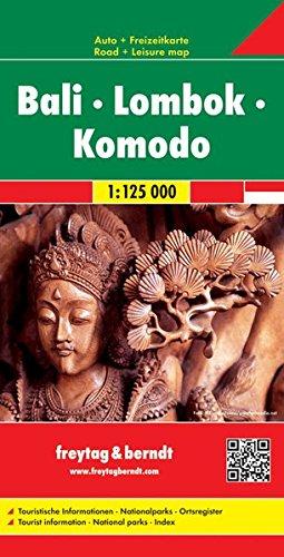 Bali, Lombok, Komodo mapa de carreteras. Escala 1:125.000. Freytag & Berndt (Auto karte)