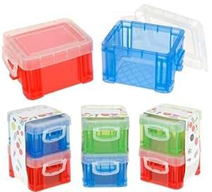 mini aufbewahrungsbox stapelboxen mit deckel 12 st ck b robedarf schreibwaren. Black Bedroom Furniture Sets. Home Design Ideas