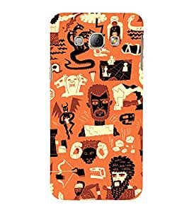 99Sublimation Scary Faces and cobra Snake 3D Hard Polycarbonate Back Case Cover for Samsung Phones