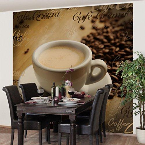 Vliestapete Küchentapeten No.CG76 Coffee Scents - Fototapete Quadrat Vlies Tapete Wandtapete Wandbild Foto, Größe HxB:192cm x 192cm