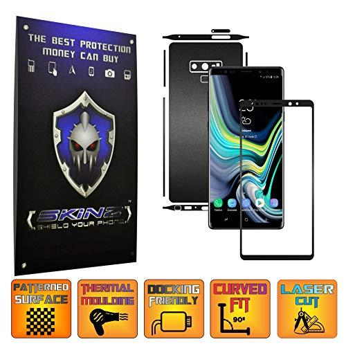 X-Skinz, Full Body Schwarz Matt Skin Schutzfolie für Samsung Galaxy Note 9 - Split Cut, Displayrahmen + Rückseite Case Cover Hülle Sticker, Vinyl Wrap Aufkleber Panzerfolie