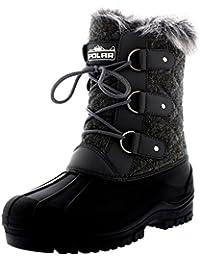 d2180b56388 Polarr Polar Womens Short Snow Winter Tactical Mountain Waterproof Hiker  Mid Calf Walking Boot